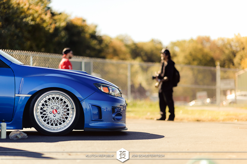 blue 2012 subaru wrx sti image wheels at canibeats first class fitment 2012 3pc wheels static airride low slammed coilovers stance stanced hellaflush poke tuck negative postive camber fitment fitted tire stretch laid out hard parked klutch motorsports seen on klutch republik