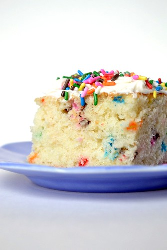 funfetti cake with buttercream frosting