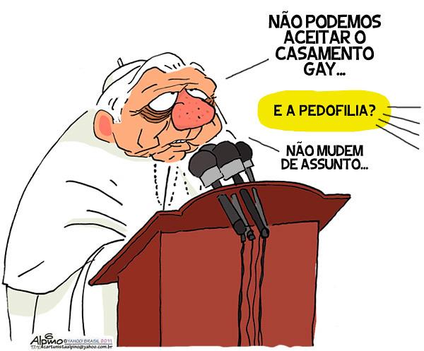 Papa e o casamento gay, por Alpino