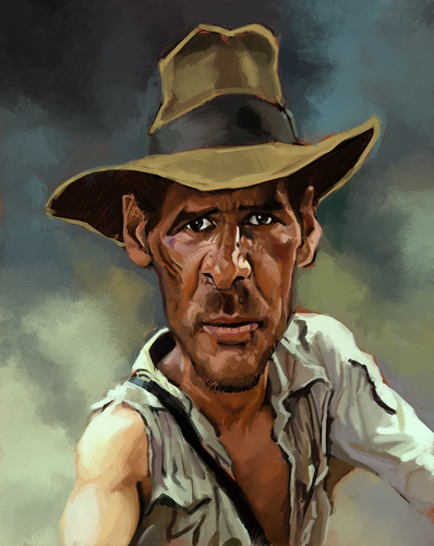 digital caricature of Harrison Ford - 2
