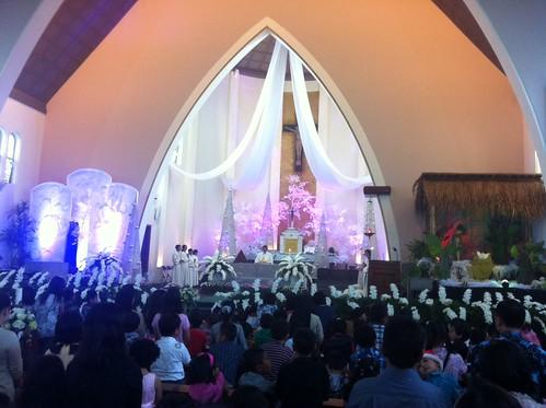 Suasana Misa Natal Anak-anak 2012 di Malang