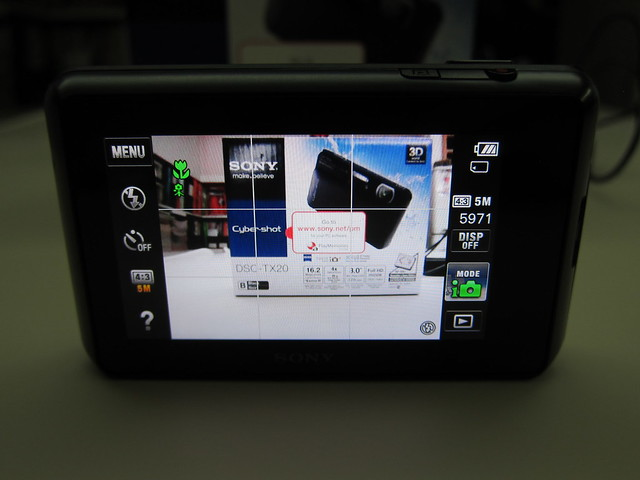 Sony Cyber-shot DSC-TX20 - Camera UI