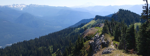 Looking south from Tatoosh Peak by The Bacher Family