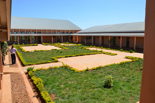 A staff member walks through the Dowa Teachers Training College courtyard. The college helps satisfy an urgent need for qualified educators in Malawi and brings the country closer to meeting the United Nations' Millennium Development Goal of universal primary education. (Courtesy Photo)