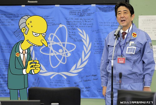 SHINZO ABE ANNOUNCING PLUTONIUM BACKED CURRENCY [PLUTONI-YEN] AT FUKUSHIMA RICE FACTORY by Colonel Flick/WilliamBanzai7