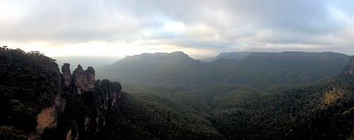 3 Sisters, Mt Solitary, Jamison Valley, Ruined Castle