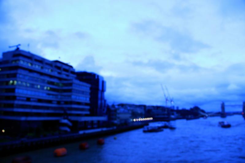View from London Bridge, Dusk December, London