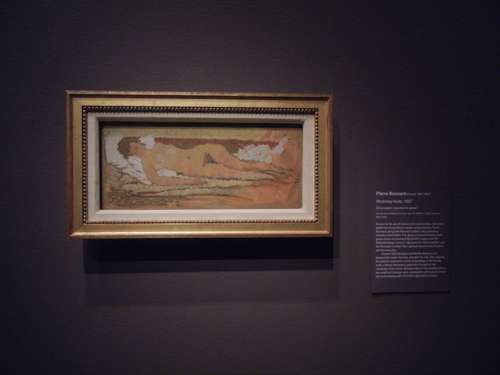 DSCN5645 _ Reclining Nude, 1897, Pierre Bonnard, NY MOMA at De Young