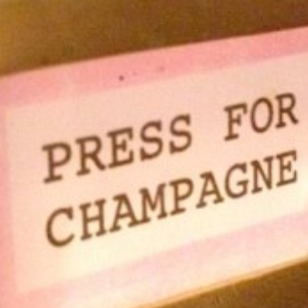 One of my favorite London hotspots, Bob Bob Ricard, has this amazing button.  Happy Newyear with lots of champaign, fun & friends!