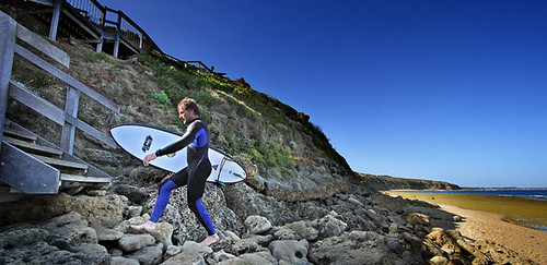 Surfer at Winkipop, Bells Beach, Torquay, Victoria, Australia IMG_7797_Torquay_Edit