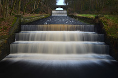 YARROW RESERVOIR OVERFLOW, RIVINGTON, LANCASHIRE, ENGLAND. (20 SECOND LONG EXPOSURE)
