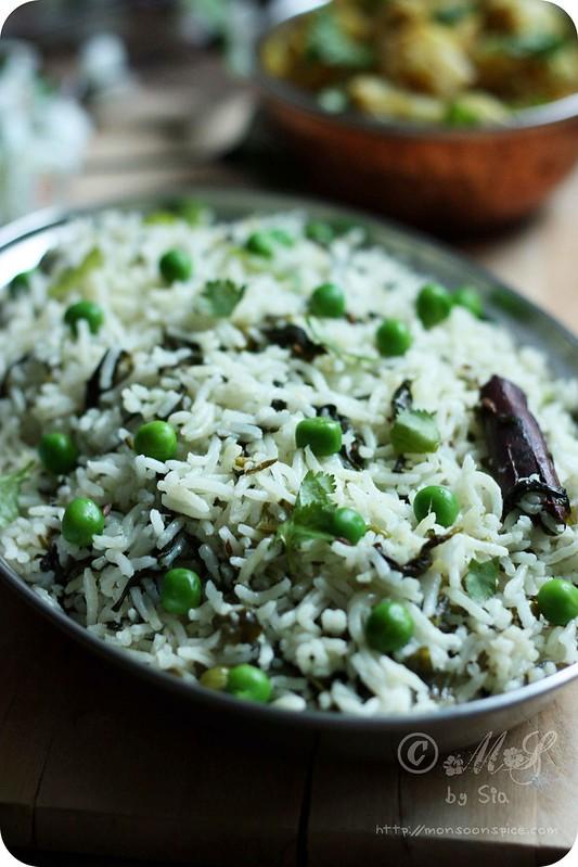 Palak-Methi Pulao Recipe | How to Make Simple Veg Pulao/Pulav/Pilaf ...