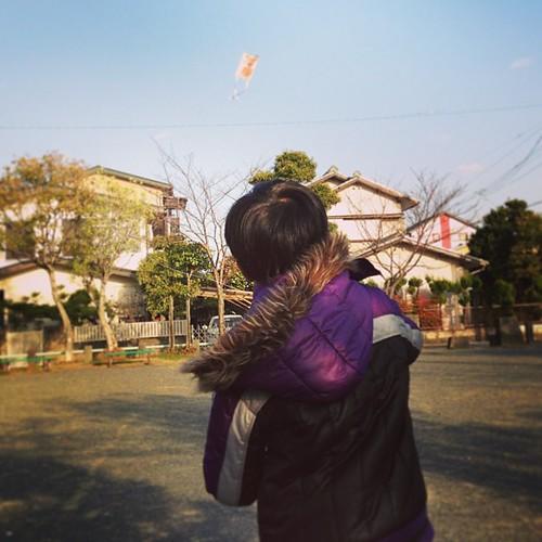凧揚げなう。