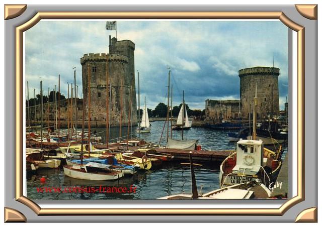 La ROCHELLE (Charente-Maritime) Le port et les Tours-70-150