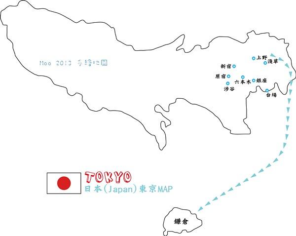 東京手繪地圖