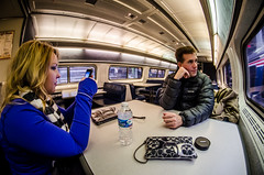 Doing what you do in the observation car: Observe.