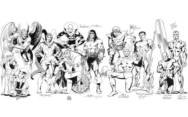 80s comic art jam