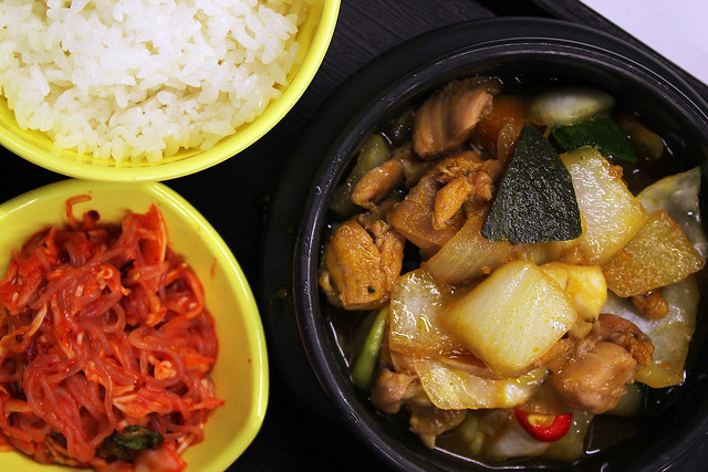Andong Chicken Stew with Spicy Japchae