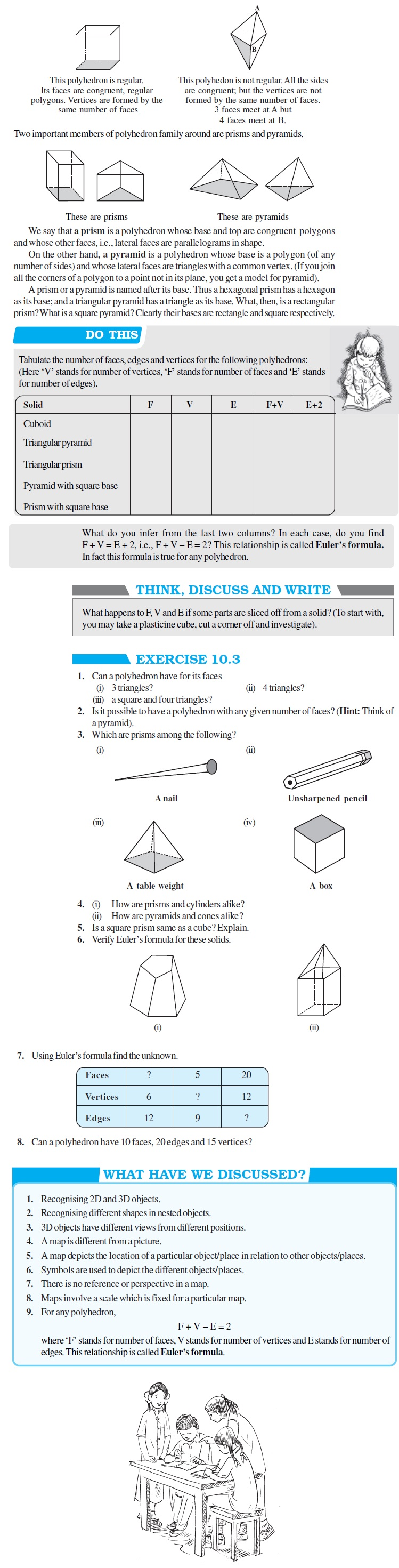 NCERT Class VIII Maths Chapter 10 Visualising Solid Shapes