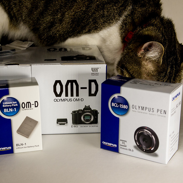 Lucy Checks Out Her New Olympus OM-D