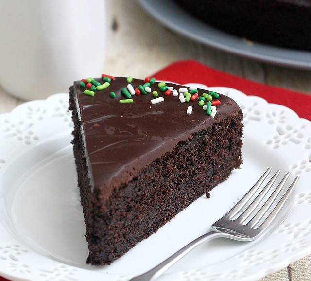 Easy Glazed Chocolate Cake | Tracey's Culinary Adventures