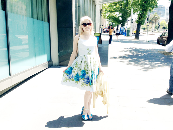 vintage hydrangea dress a