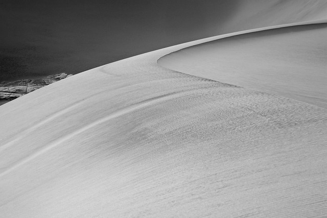 Mesquite Sand Dunes: Falling off the rim
