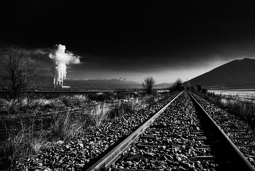 bw white black abandoned electric train landscape photography smoke hellas environmental explore greece pollution rails electricity environment dei infection contagion contamination defilement egnatia kozani ptolemaida egnatiaodos thermoelectricplants