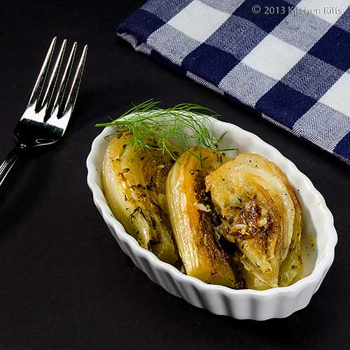 Braised Fennel in Oblong Ramekin