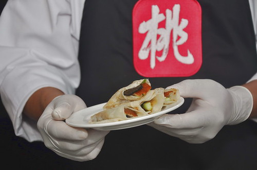 Peking duck wrap with truffle