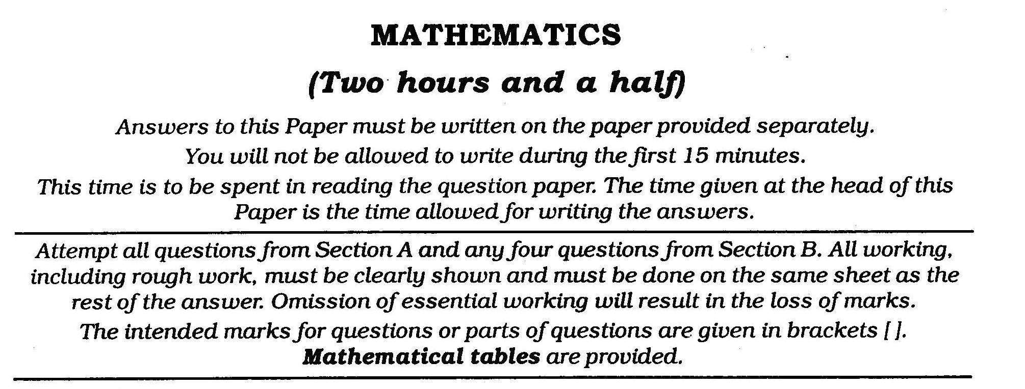 ICSE Class X Exam Question Papers 2011 Mathematics