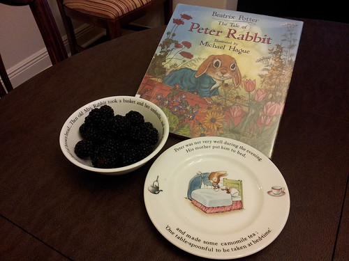 Peter Rabbit: Books, Place setting, Blackberries
