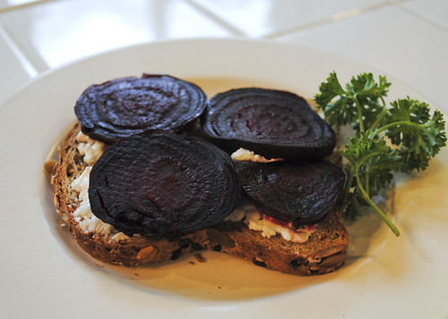Beet and Goat Cheese Open Face Sandwich_2