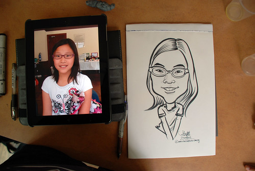 caricature sketching for a birthday party 07072012 - 13