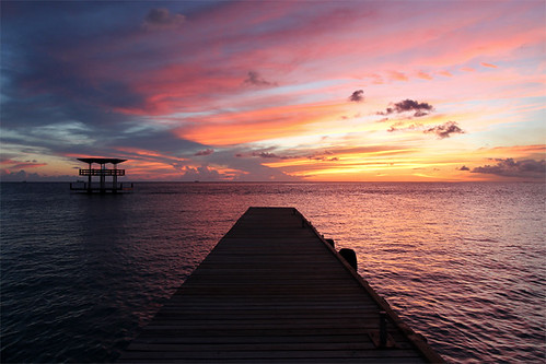 ocean sunset sea netherlands island dock december hilton southern caribbean curaçao 2012 antilles