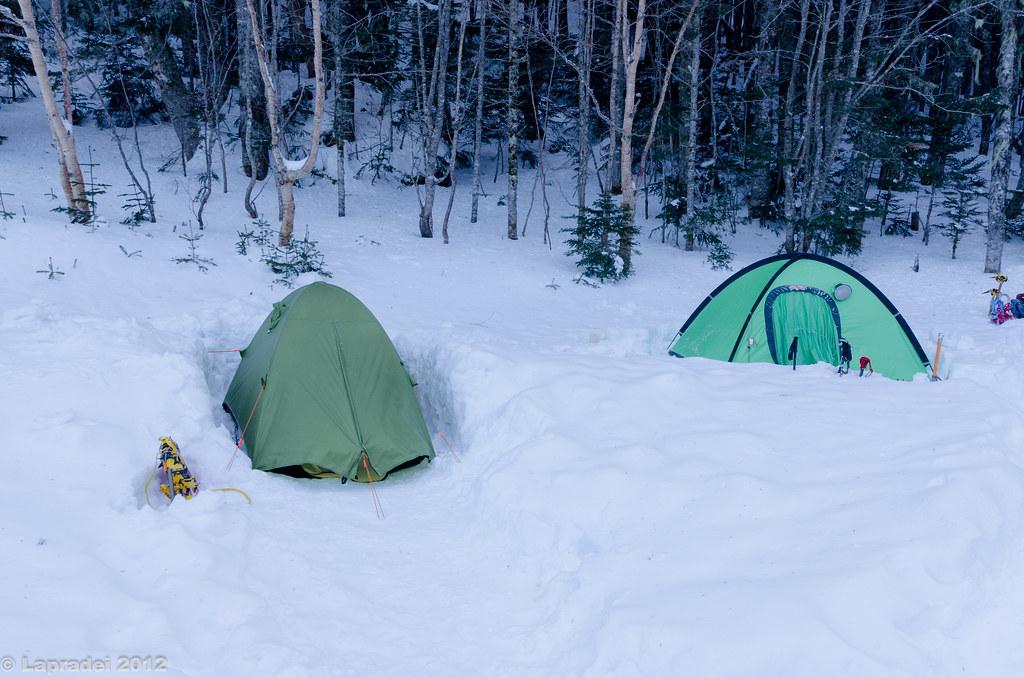 20121231 南御室小屋テントサイト