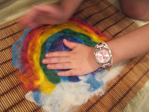 Summer Wet Felting: Rainbow#13