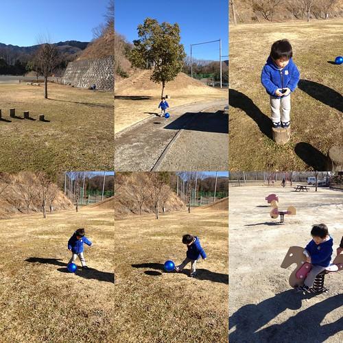 公園で遊ぶ 2013/1/27
