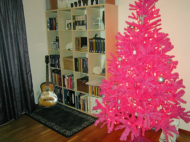I have a pink Christmas tree