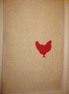 Itty Bits Chicken Tea Towel