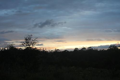 sunset sky bush australia glenugie