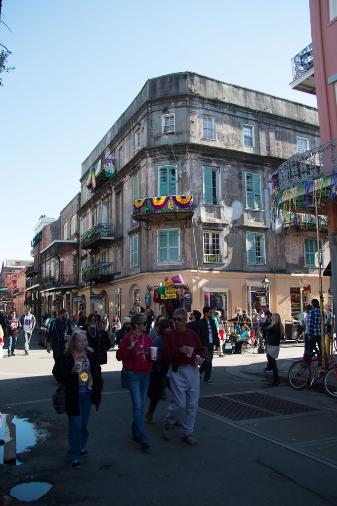 French Quarter during Mardi Gras