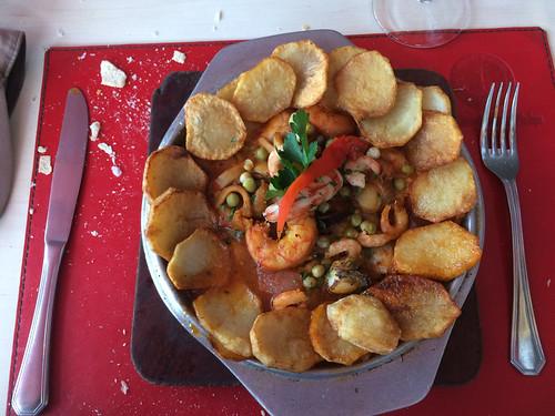 Puerto Madryn: cassolette de fruits de mer. Très bon !
