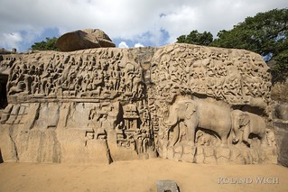 Mahabalipuram - Descent of the Ganges Bas-relief