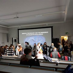 """About to start """"Empathy, technology and the emergence of collective intelligence"""". At @pixelache festival., September 23, 2016 at 05:33PM"""