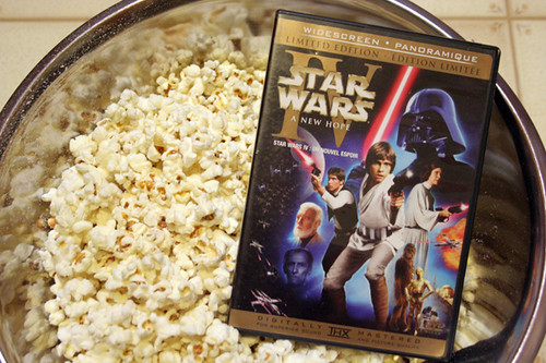 5/365 :: Star Wars and salt & vinegar popcorn and After Eight hot chocolate date with my eldest girl
