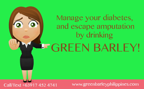 how to escape amputation due to diabetes by drinking green barley