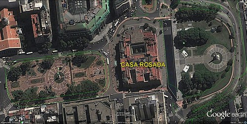 Casa Rosada (via Google Earth)