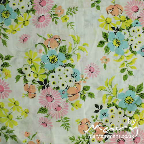 Vintage sheet - floral