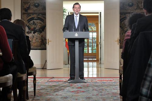 Maraino Rajoy en La Moncloa